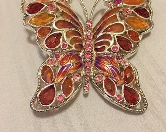 Crystal Buterfly Pin