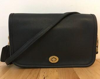 Vintage Coach Penny Bag, Black, 9755