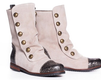 Siga Shoes Nora Boots-Cream