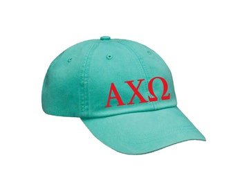 AXO Alpha Chi Omega Letters Hat Choose Your Colors Sorority Hat