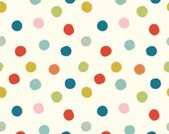 Mod Basics Pop Dots Organic Fabric - Multi - Sold by the 1/2 Yard