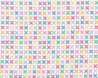 Rainbow Remix Kisses Fabric - Sweet - sold by the 1/2 yard