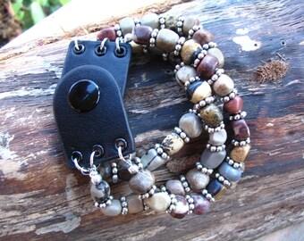 Triple Strand Gemstone Bracelet