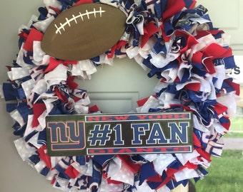 NY Giants Wreath