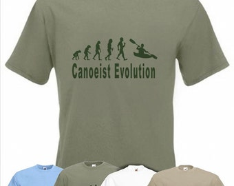 Evolution To Canoeist t-shirt Funny Canoe T-shirt sizes S TO 2XXL