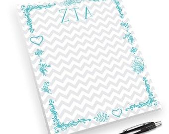 Zeta Tau Alpha Chevron Notepad