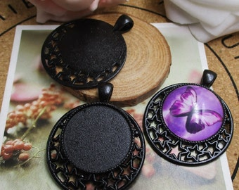 5pcs 25mm Round Cameo Cabochon Base Setting,Pendants,1inch (25mm) Round Blank Findings Trays --b2076