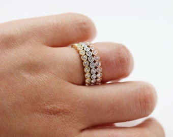 Crystal Band Ring