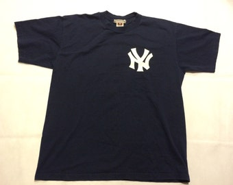 Vintage New York yankees derek jeter t shirt mens large xl 90s