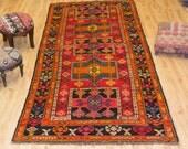 Vintage Turkish Rug,  5.74x 9.05 ft ( 175 cm x 276 cm)