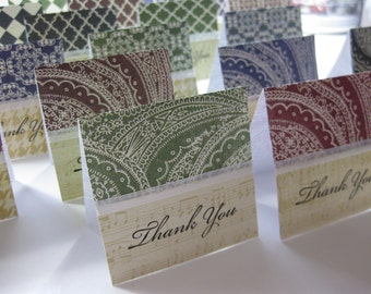 Small Thank You Note Cards Set of 20