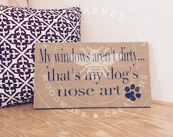 Dog Nose art wood sign
