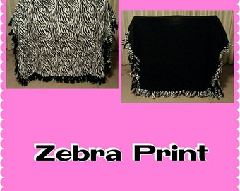 Zebra Print Fleece Blanket