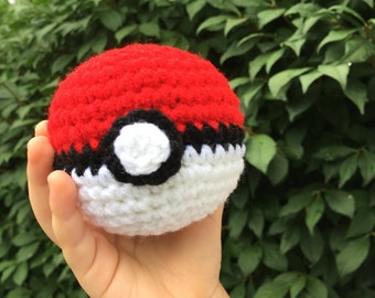 Crochet Pokeball ~ Pokemon Go Inspired Stuffed Pokeball Toy