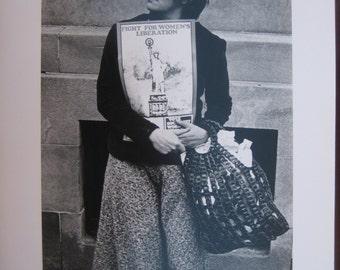 Women's Liberation, Socialism,  Poignant Original Vintage Photograph, 1970
