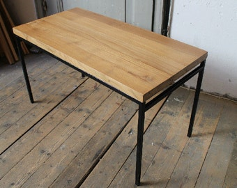 Contemporary Retro Style Solid Teak Wood Coffee Table