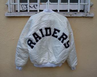 Vintage 80's Los Angeles Raiders Chalkline Jacket Sz. L