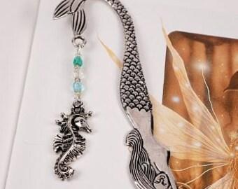 Bookmark Mermaid with Seahorse