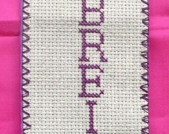 Triskell Breizh hand embroidered bookmarks
