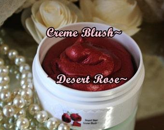 Desert Red Blush~Desert Red~Red Blush~Rose Blush~ Red Cheek Color~Cheek Stain~Sheer Blush~Natural Makeup~Moisturizing~Cosmetic~Cream