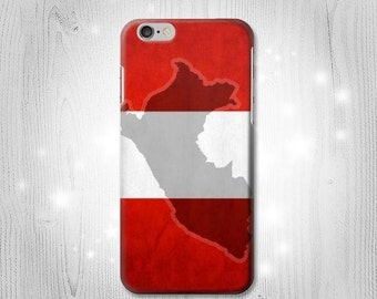 Peru Flag iPhone 6S 6 Plus 6+ SE 5 5S 5C 4 Htc One M8 M7 Samsung Galaxy S7 S6 Edge+ S5 S4 S3 mini Note 5 4 3 Case
