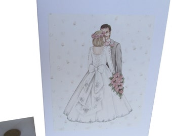 Wedding Card, Couple Wedding Card, Perfect Day Card, Wedding Couple Card, Decoupage Wedding Card