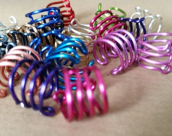 Ear Cuff No Piercing - Lucky Dip of 5, Multi coloured Inc Silver