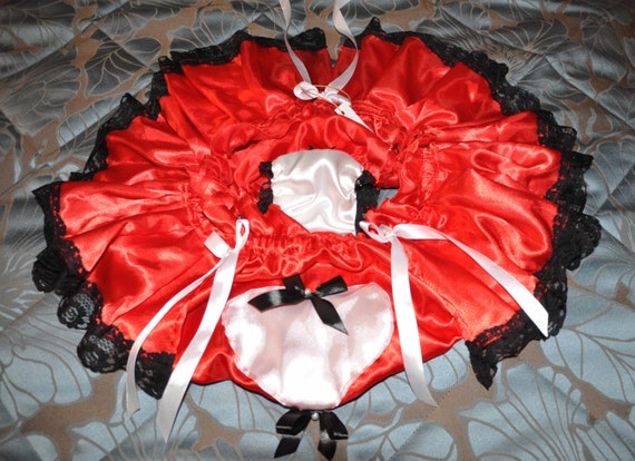 SALE  --   silky satin sissy panties, wonderful flouncy panties, Sissy lingerie