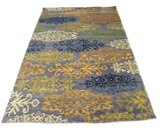 5×8 Modern Wool Silk One Of a Kind Handmade Rug 2839