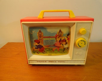 Vintage Fisher Price Two Tune TV Musical Box