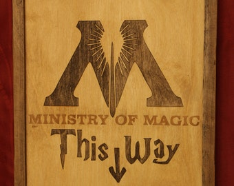 Harry Potter Ministry of Magic Wooden Inlay Wall Art