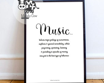 Music Print | Music Decor | Music Lover Gift | Music Lover | Music Wall Art | Fathers Day Gift | Music Decor | Music Quotes |