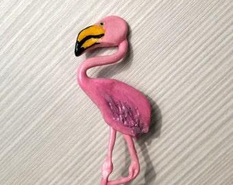 Pin pink flamingo