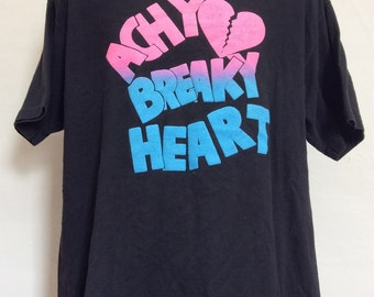 Vtg 90s Achy Breaky Heart T-Shirt Black XL Billy Ray Cyrus Country Music