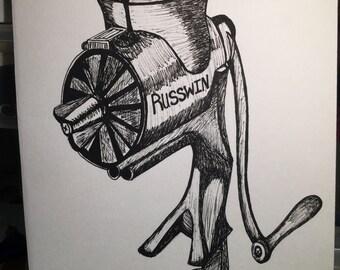 Ink art: Meat grinder