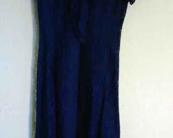 Beautiful Sheer Lace vintage Dress