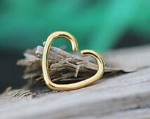 Love Heart Cartilage Earring - 16g Stud - 16 Gauge Tragus - Helix Piercing -Upper Ear - Daith - Body Jewelry - Surgical Steel #500-15