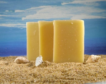 Suds in the Sea, ocean scent, Coconut Oil Soap ocean scent /Handmade Essential Oil Soap, Mini Cold Process Soap, Lemongrass Soap, Small Soap