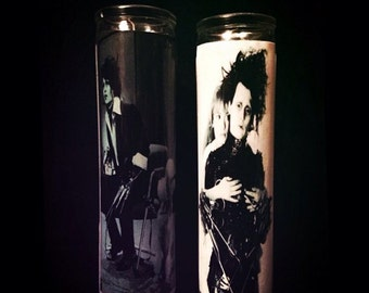 """Edward Scissorhands Set of 2 2x8"""" Horror Candles from Toxxic Candles"""