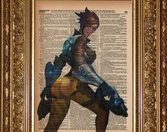 Tracer (Overwatch) Dictionary Art Prints