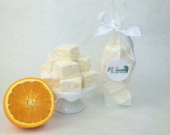Handmade Gourmet Marshmallows - Orange -  Marshmallow - All Natural