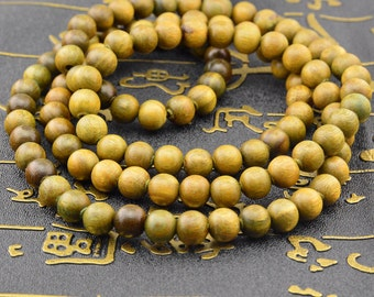 108pc  Green sandalwood Verawood Tibetan Prayer Bead Mala Beads 8mm 6mm
