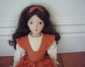 The Country Meadow Collection Porcelain Doll - Laura - Brunette - 14""
