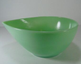 Vintage Fire King Swedish Modern Mixing Bowl, Tear Drop Bowl - 2 QT