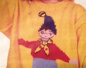 Noddy Children's Jumper Knitting Pattern