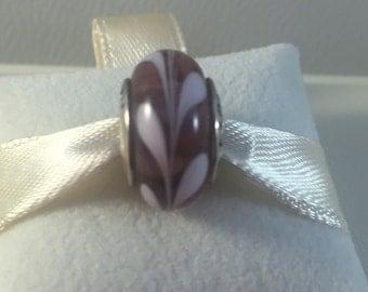 Pandora Lavender Swirl Murano