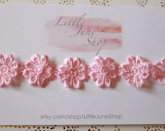Pink Daisy Lace Halo Headband