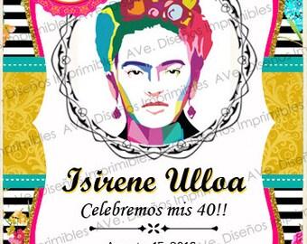 Frida Kahlo invitations for birthdays, bachelorette, Frida Kahlo Fiesta Mexicana Frida Kahlo invitations
