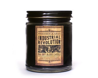 industrial revolution scented candle industrial decor history gift victorian candle steampunk - Industrial Decor