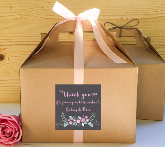Out of Town Guest Favor Boxes Hotel Guest by CreativePartyDesign